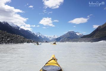 Kayak on Tasman Glacier