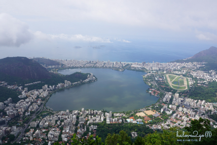 Rio city from Corcovado mountain