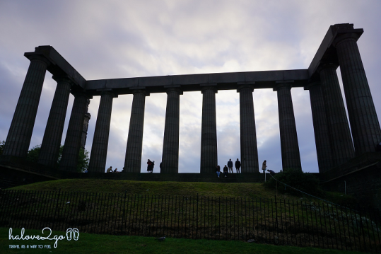 National Monument on Calton hill, Edinburgh, Scotland.