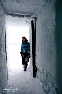 Ice hotel - door
