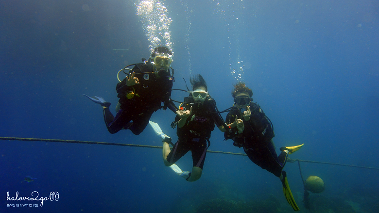 dive group at 10m deepth