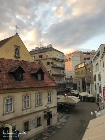 View từ cửa sổ phòng ở Zagreb